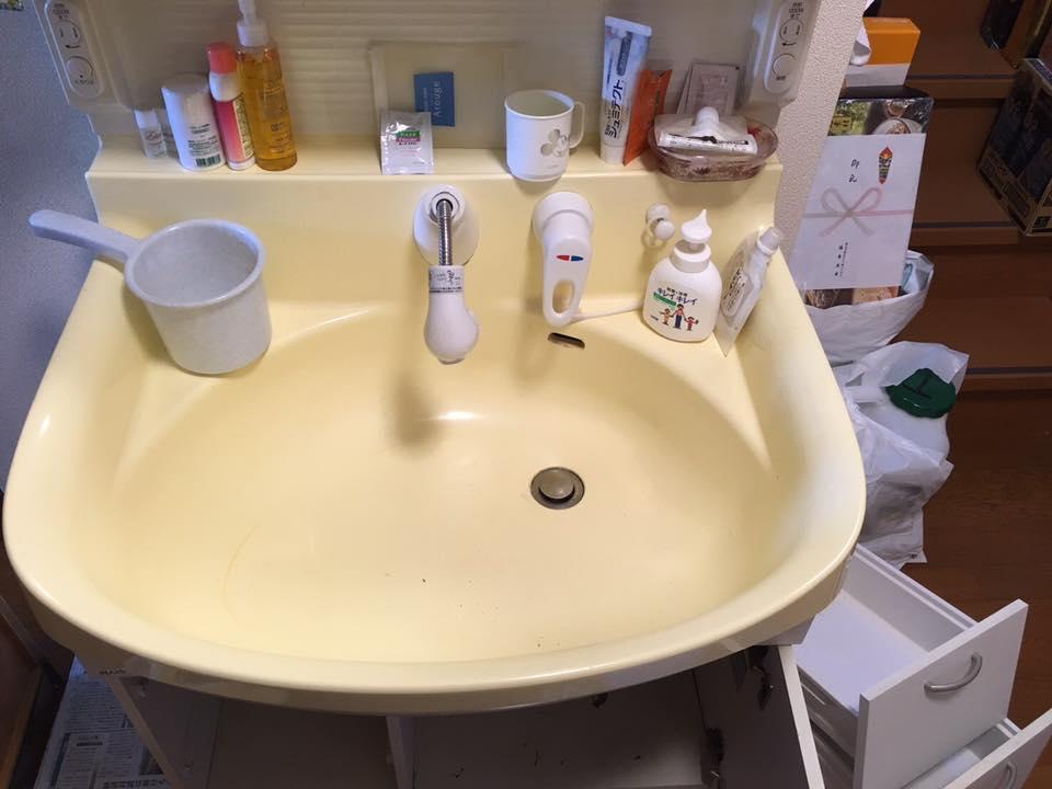 洗面台のシャワーホース水漏れ修理